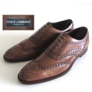DOLCE GABBANA brogue wingtip  shoes 8.5 / 9.5 US